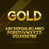 Gold Font and Numbers. Eps 10 Vector, Editable for any Background stock illustration