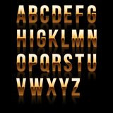Gold Font Set 1. File contains graphic style. Royalty Free Stock Photos