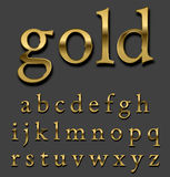 Gold   font Stock Photography