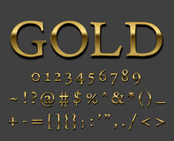 Gold   font Stock Photos