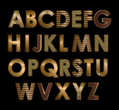 Gold font Stock Image