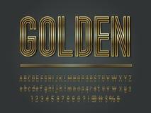 Gold font vector illustration
