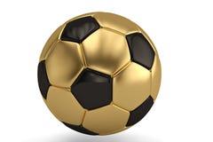 Gold football isolated on white background 3D illustration.  royalty free illustration
