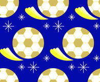 Gold football pattern Stock Image