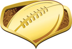 Gold Football Shield Stock Photography