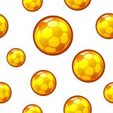 Gold football, soccer seamless background Royalty Free Stock Image