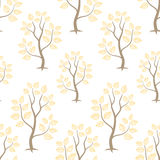 Gold forest seamles vector pattern. Background Royalty Free Stock Image
