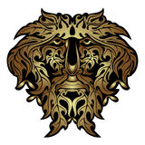 Gold forest spirit face Royalty Free Stock Photography