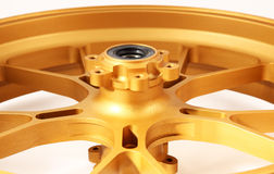 Gold forged wheels Royalty Free Stock Image