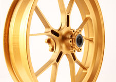 Gold forged wheels Stock Image