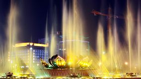 Gold fountain Stock Photo
