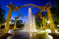 Gold Fountain Stock Image