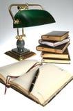 Gold fountain pen Stock Photo