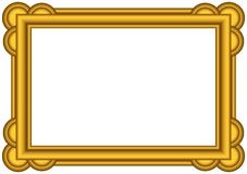 Gold frame. Stock Photo