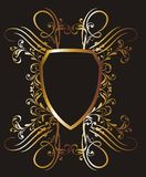 Gold frame 12 Royalty Free Stock Photography