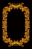Gold frame. Isolated over black Royalty Free Stock Photography