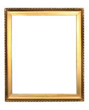 Gold frame. Old antique gold frame over white background Stock Photos