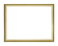 Gold Frame. Old gold frame against white background; good for backgrounds or invitations, fliers, etc Royalty Free Stock Photo