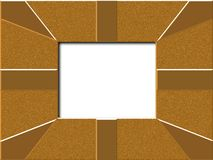 Gold frame. Shiney gold patterned picture fame Royalty Free Stock Images