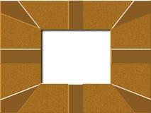 Gold frame. Shiney gold patterned picture fame vector illustration