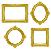 Gold frame. Set of gorgeous decorative frame. Vector illustration Royalty Free Stock Images