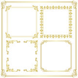 Gold frame. Set of gorgeous decorative frame. Vector illustration Royalty Free Stock Photos
