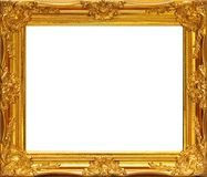 Gold frame. On white background Stock Images