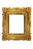 Gold frame. On a white background royalty free stock photography