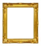 Gold frame. Antique on white background Royalty Free Stock Photos