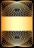 Gold Frame. Royalty Free Stock Image