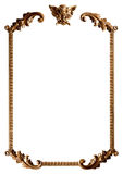 Gold frame. In white background Royalty Free Stock Photos