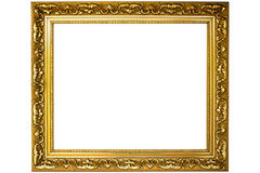 Gold of frame Royalty Free Stock Images