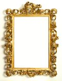 Gold frame. Gold antique frame on the wall Royalty Free Stock Photography