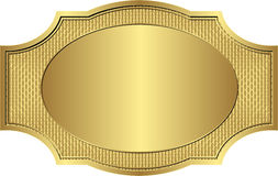 Gold frame. Gold vintage frame - vector illustration Royalty Free Stock Photo