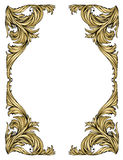 Gold frame. Classic style, like frost on the window Royalty Free Stock Photos