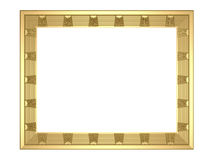 Gold  frame - 3d rendering Royalty Free Stock Photo
