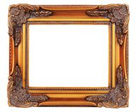 Gold frame. Old fashioned, gold plated wooden picture frame Royalty Free Stock Images