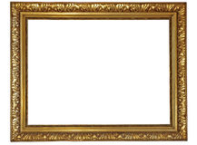 Gold frame. Old fashioned, gold plated wooden picture frame Royalty Free Stock Image