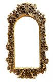 Gold frame. Old antique gold frame over white background Royalty Free Stock Photos