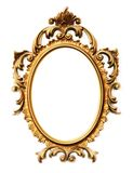Gold frame. Old antique gold frame over white background Royalty Free Stock Images