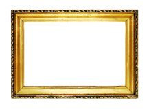 Gold frame. Old antique gold frame over white with clipping path Royalty Free Stock Photo