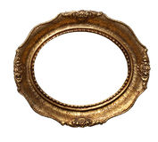 Gold frame. Beautiful gold frame on white background royalty free stock photo