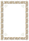 Gold frame. A  simple classic frame design - gold border isolated on a white background Royalty Free Stock Photo