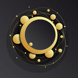 Gold frame abstract background. Royalty Free Stock Photo