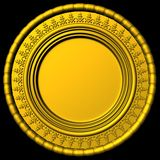 Gold frame. Abstract 3d style for backgrounds Royalty Free Stock Photography