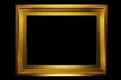 Gold frame aged texture Stock Photos