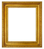 Gold frame with antique moulding. Gold frame with antiqued moulding royalty free stock photography