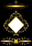 Gold  frame in the antiques style. Royalty Free Stock Photography