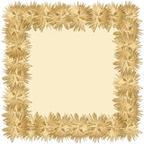 Gold Frame Background Stock Photo