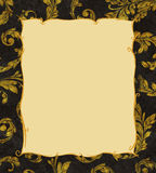 Gold Frame on a Background of Laurel Leaves Royalty Free Stock Photos